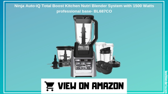Ninja Auto-iQ Total Boost Kitchen Nutri Blender System with 1500 Watts