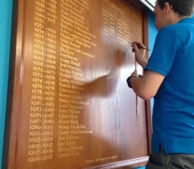 adding name to existing honours board 390x340