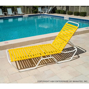 c120 12 inch strap chaise lounge