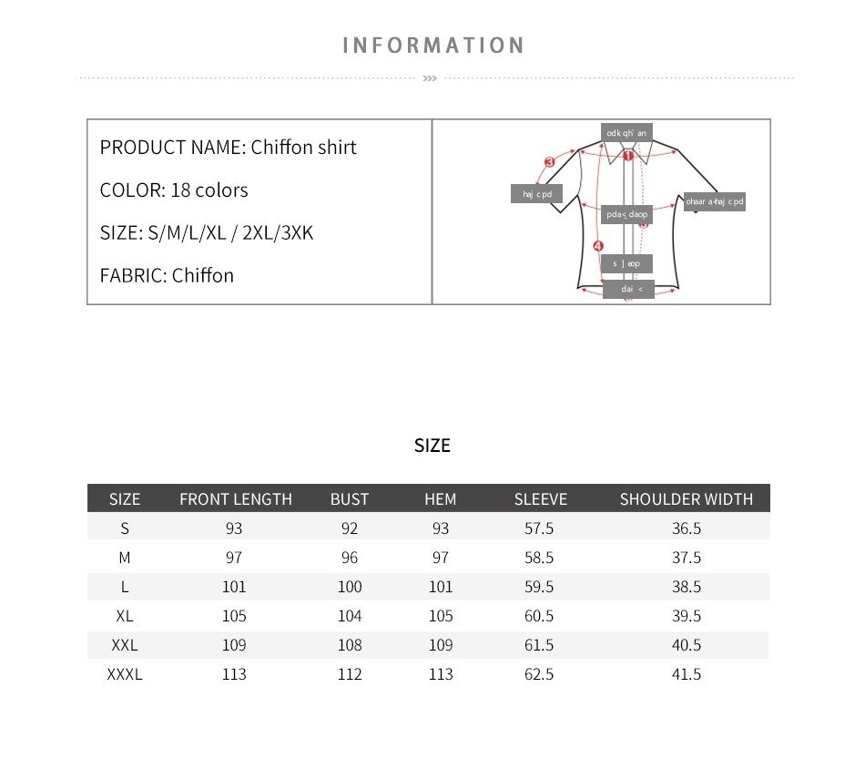 Women's Classic Shirt Chiffon Blouse Loose Long Sleeve Casual Shirts Lady Simple Style Tops 15