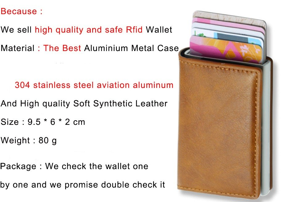 Mens Small Slim Leather Wallets Rfid Card Holder 14