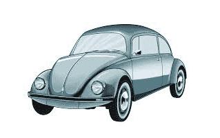 Beetle Car Cake Design