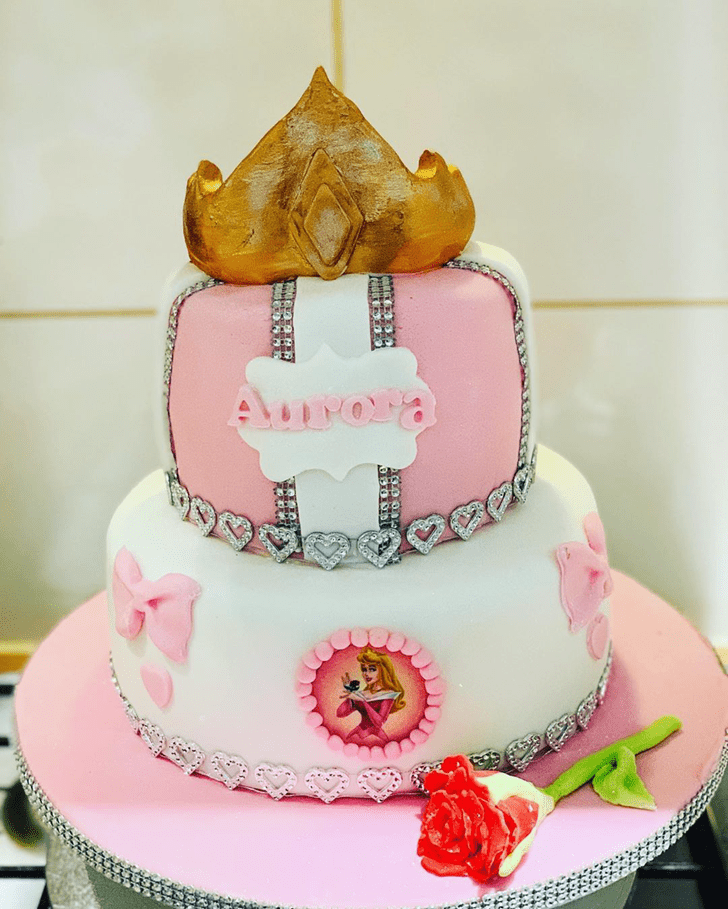 Adorable Sleeping Beauty Cake
