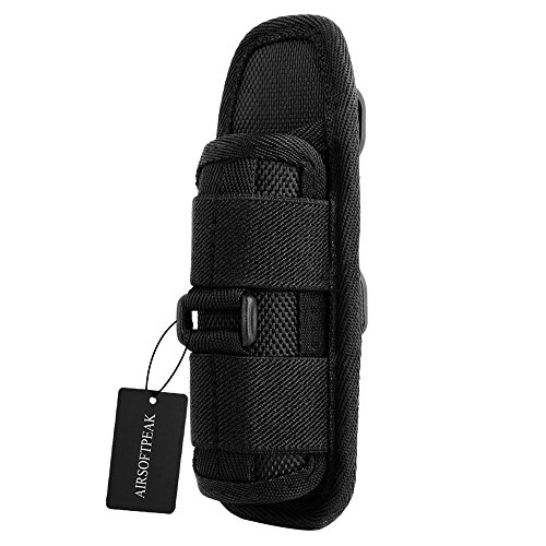 US Portable Flashlight Pouch Holster Belt Carry Case Holder w// 360 Degrees Rotat
