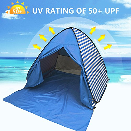Popup 4 Person Tent Kids Adult Outdoor Camping Shelter Waterproof UV Resistant