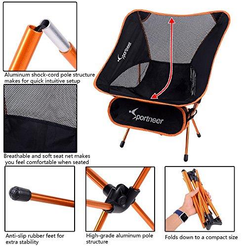 Sportneer Camping Chairs Portable Lightweight Folding