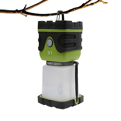 LE 1000lm Dimmable Portable LED Camping Lantern 4 Modes Battery Powered Lamp