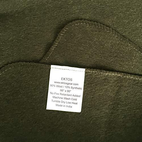 Ektos 90 Wool Blanket Olive Green Warm Amp Heavy 4 0 Lbs
