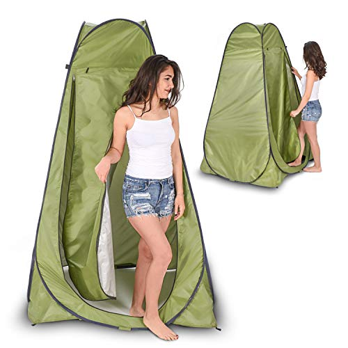 IHAYNER Pop Up Privacy Shelter Tent Instant Portable Outdoor Shower Tent Camp Toilet Changing Room Rain Shelter with Window