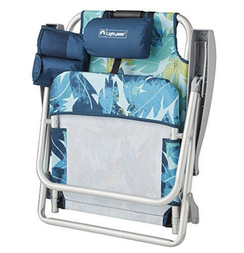 Lightspeed Outdoors Reclining Beach Chair Lightweight Folding Chair
