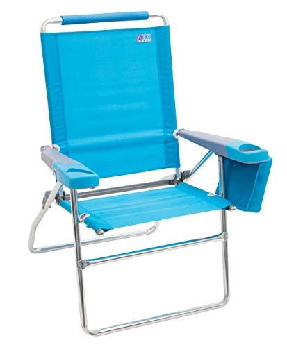 Brilliant Rio Beach 17 Extended Height 4 Position Folding Beach Chair Teal Home Interior And Landscaping Ferensignezvosmurscom