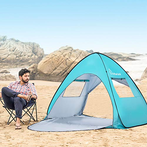 WolfWise UPF 50 Easy Pop Up Beach Tent Sun Shelter Portable Baby Canopy Quick Instant Automatic Sport Umbrella Sun Shade
