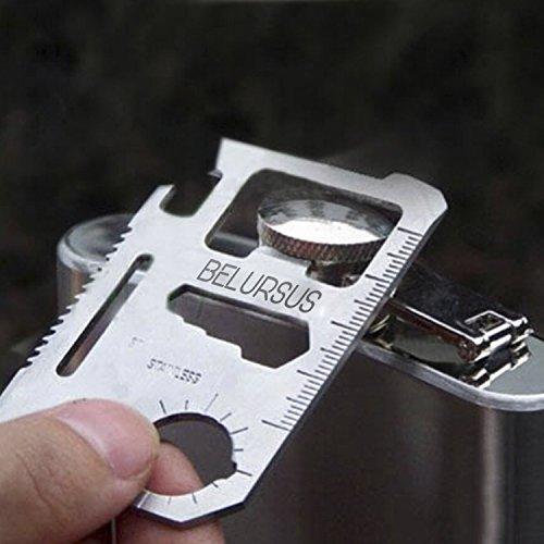 Multipurpose Silver Beer Bottle Opener//Portable Wallet Pocket Size//Gifts for Men 11-Tools-in-1