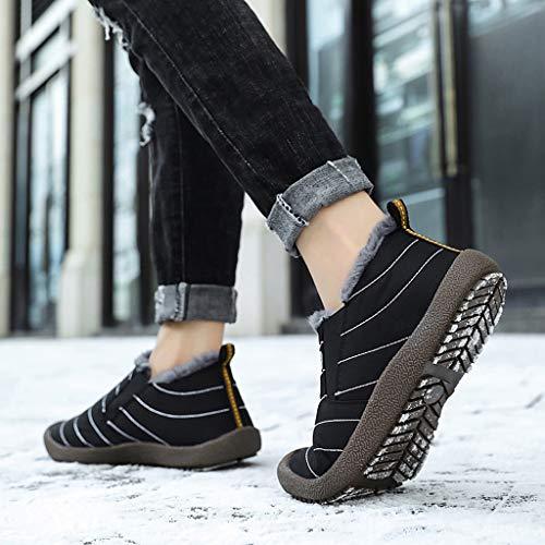 Women Winter Snow Boots Warm Ankle Boots Anti-Slip Waterproof Winter Shoes Slip On Booties Sneakers