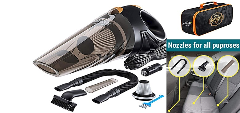 Best Car High Pressure Cleaning Tools - ThisWorx for TWC- 01 Corded Car Vacuum -