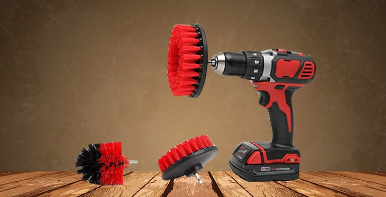 nylon brush drill attachment, power scrubber drill brush kit