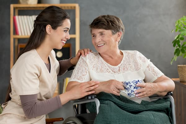 care giver and senior women