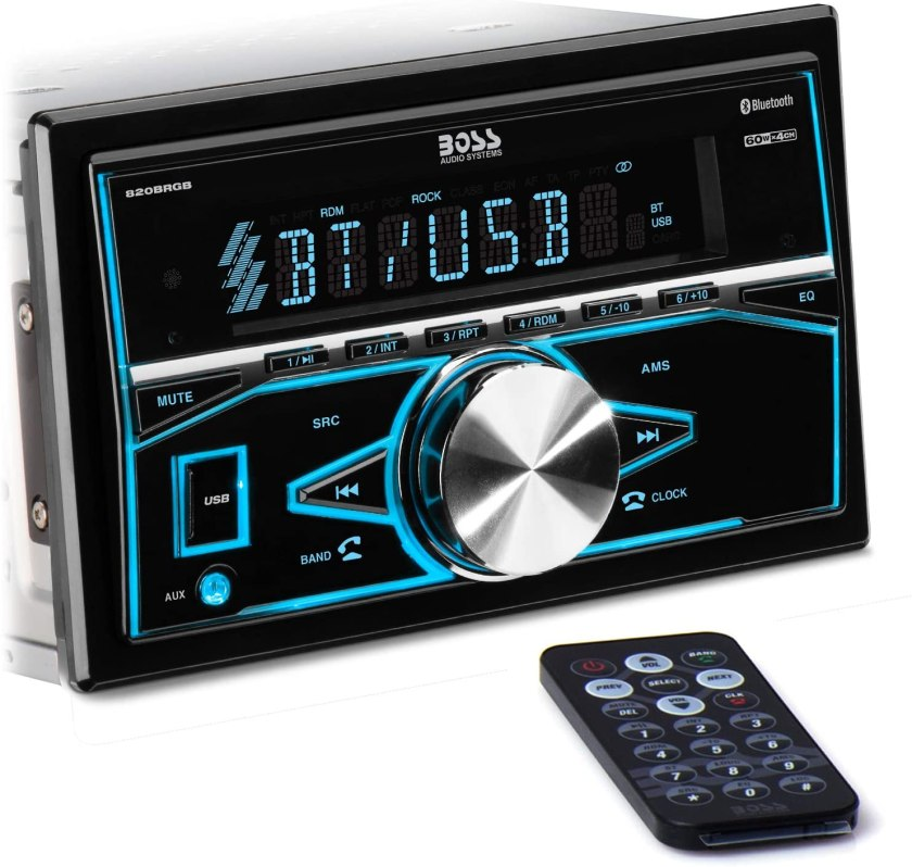 BOSS 820BRGB Audio Systems Car Stereo  Best Double Din With Backup Camera