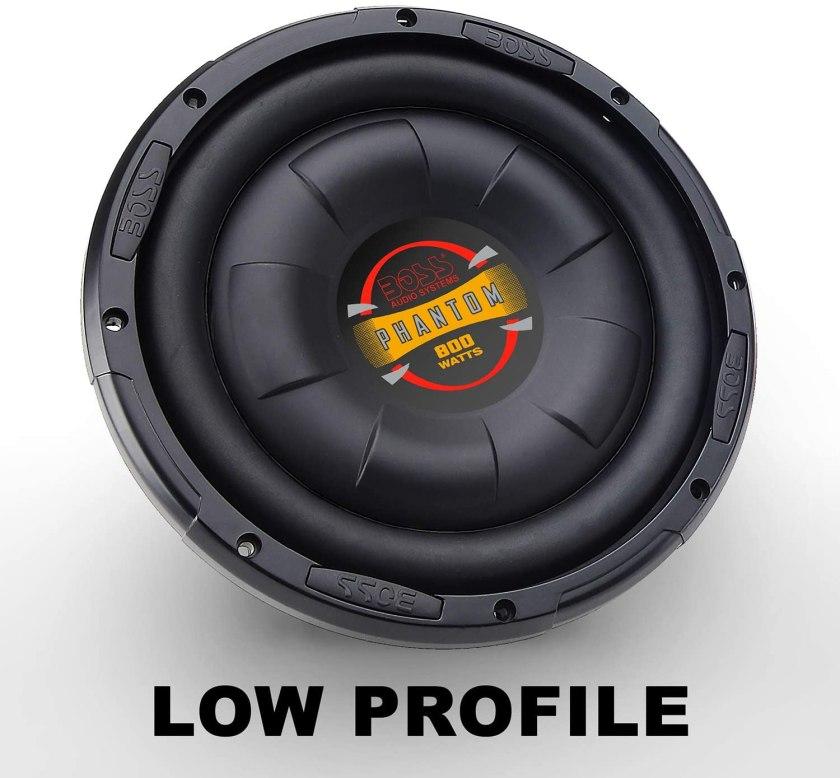 BOSS Audio D10F Shallow-Mount Subwoofer Best Shallow Mount 10 inch Subwoofer