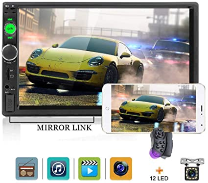 Double Din Car Stereo 7 inch Touch Screen 2 Din Car Radio Bluetooth Indash  Best Double Din With Backup Camera