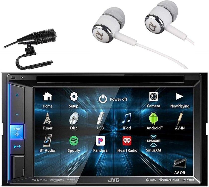 JVC KW-V25BT Double DIN Digital Media Vehicle Stereo Best Double Din Car Stereo Under $200