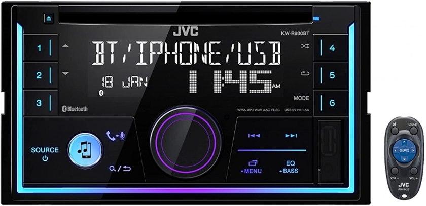 Best Double Din Head Unit Under $200 JVC KWR930BT Car Stereo