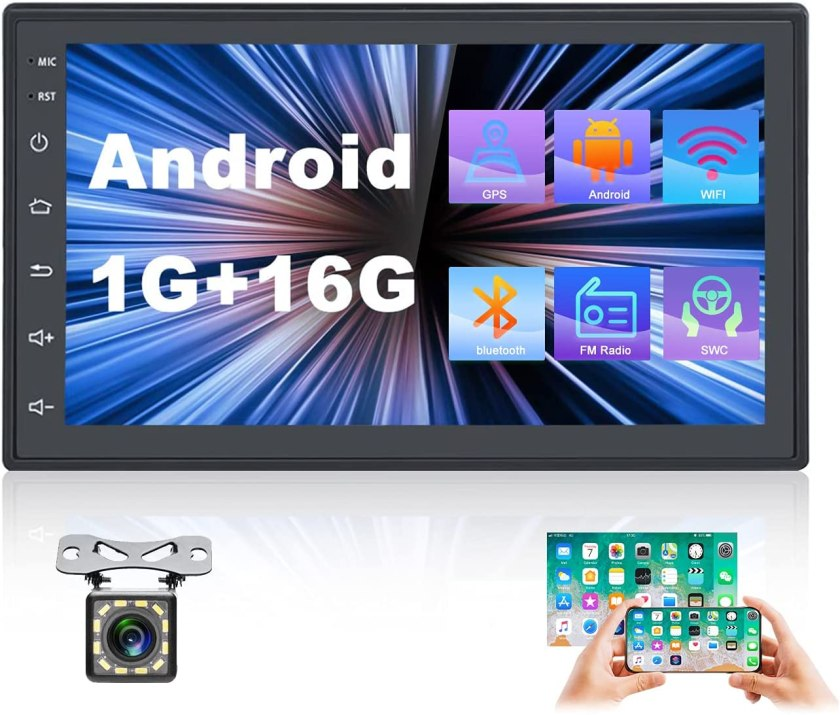 UNITOPSCI 7 Inch Android Car Stereo Double Din