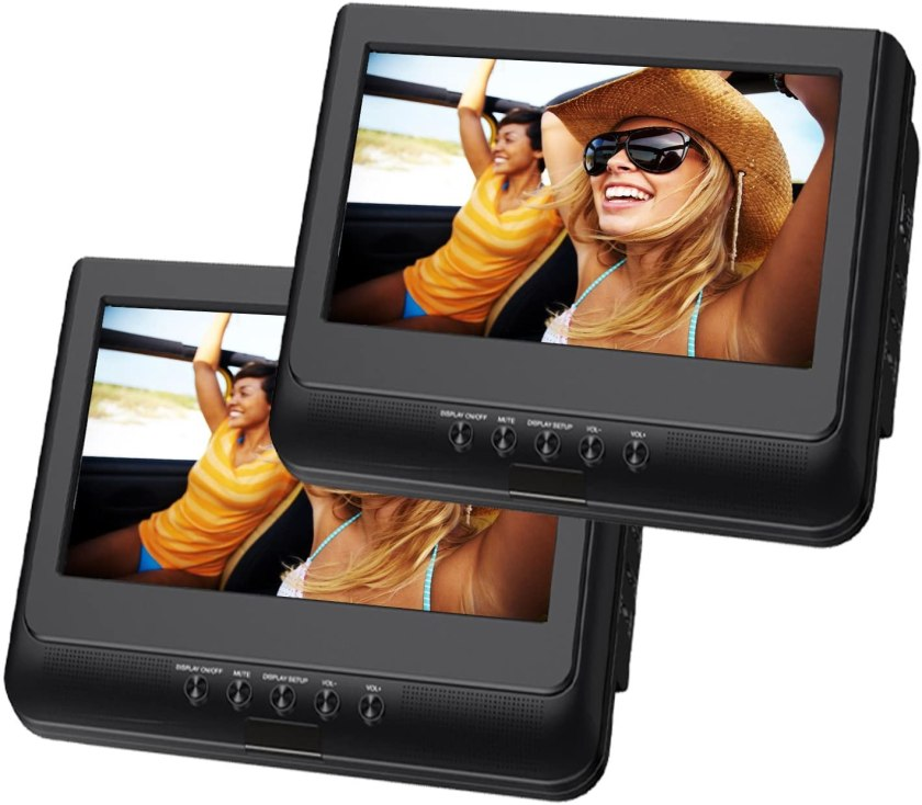 Best Portable DVD Player under $50,10.1-inch Dual Portable DVD Players