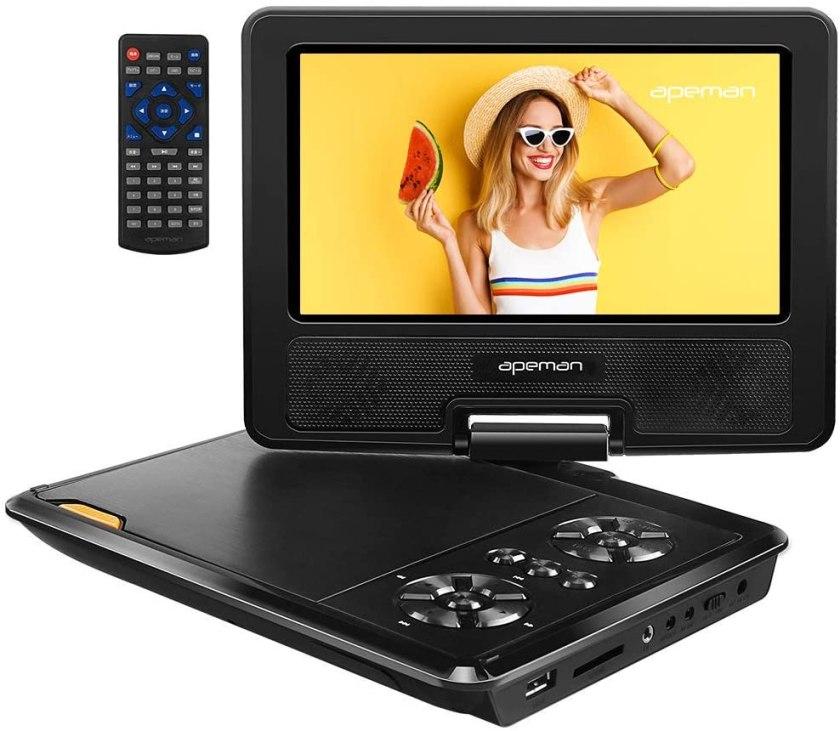 "Best Portable DVD Player under $50, APEMAN 7.5"" Portable DVD Player"