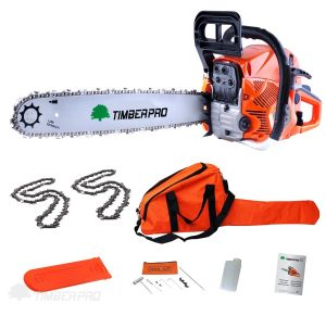 TIMBERPRO 62cc 20 Petrol Chainsaw with 2 chains