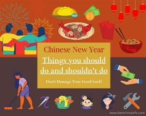 How to celebrate Chinese New Year and bring good luck: lists of things you should do (and should not do!)
