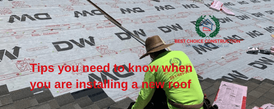 Tips you need to know when you are installing a new roof