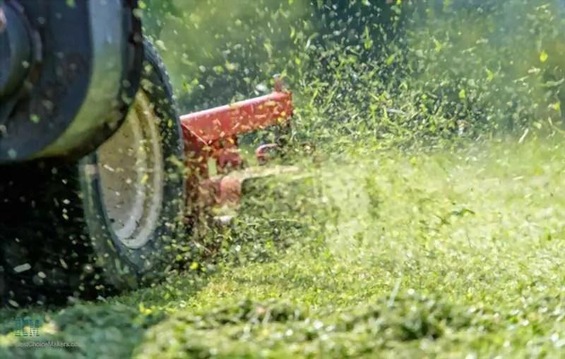 Lawn mower in working