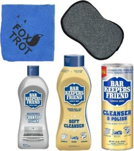 Bar Keepers Friend Cleanser Mega Bundle - Best Cleaner for Glass Cooktop
