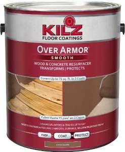 KILZ Over Armor Smooth Wood/Concrete Coating - Best paint for hardwood floors