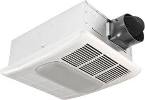 Delta BreezRadiance RAD80L 80 CFM Bathroom Exhaust Fan, light and heater