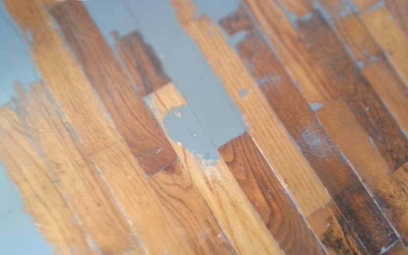 how to remove paint from painted hardwood floors