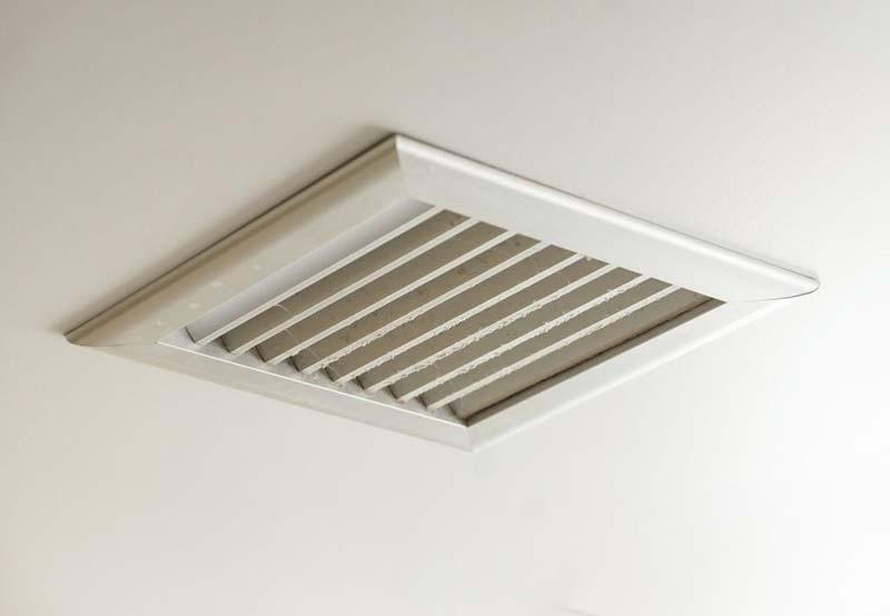 Bathroom Ventilation Through Ceiling to wall vent