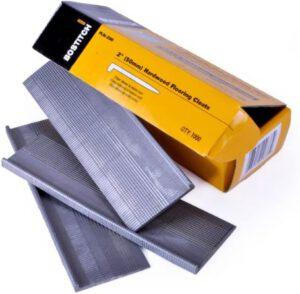 "BOSTITCH Flooring Nails, L-Nail, 2-Inch, 1000-Pack 3/4"" hardwood flooring"