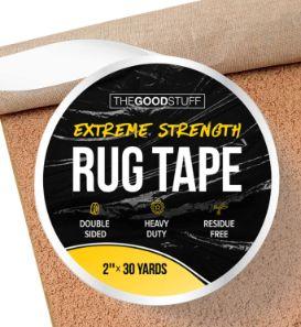 4. Good Stuff Heavy-duty Double-Sided Rug Tape for Hardwood Floors and Carpet