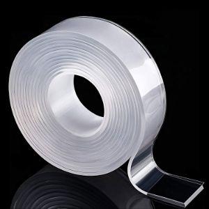 8. AurGun Double Sided Washable & Reusable Carpet Tape, No Residue, Transparent