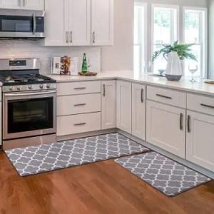 KMAT Cushioned Non-Slip Kitchen Mat - Best Waterproof Anti-Fatigue Kitchen Rug