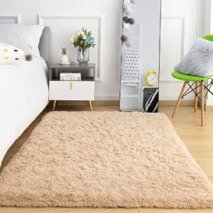 Ompaa Rubber Backed Super Soft Fluffy Area Rugs for Living Room Bedroom