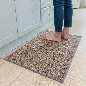 MontVoo Non Skid Washable Kitchen Rugs with Rubber Backing for Hardwood Floors