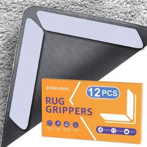 ZONGOOL Reusable Rug Grippers - Washable Rug Tape for Hardwood Floors