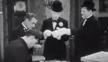 Me and My Pal - classic Laurel and Hardy short film, where Stan ruins Olivers wedding - with a puzzle!