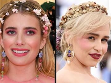 Emma Roberts à Emilia Clarke: coiffure florale sur le tapis rouge