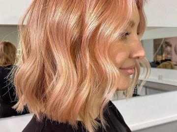 cheveux abricot