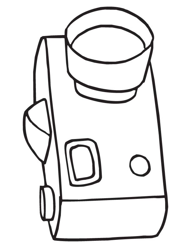 camera coloring page  download free camera coloring page
