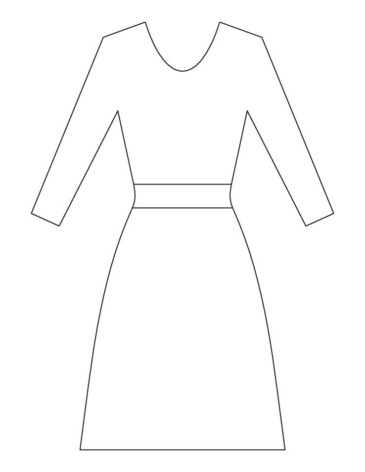Dress Coloring Pages Download Free Ladies Dress Coloring